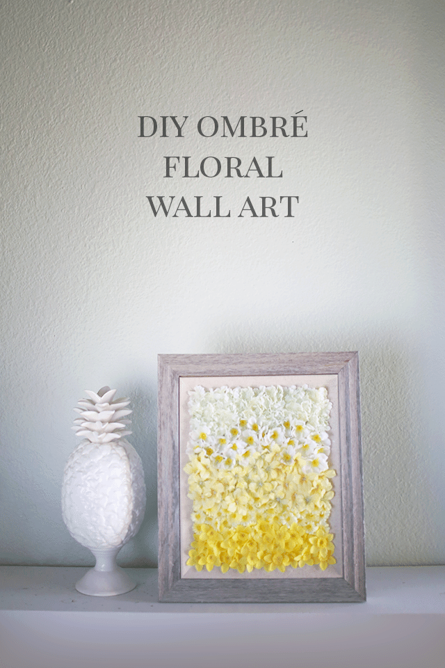 Ombré DIY Floral Wall Art Tutorial on Shrimp Salad Circus