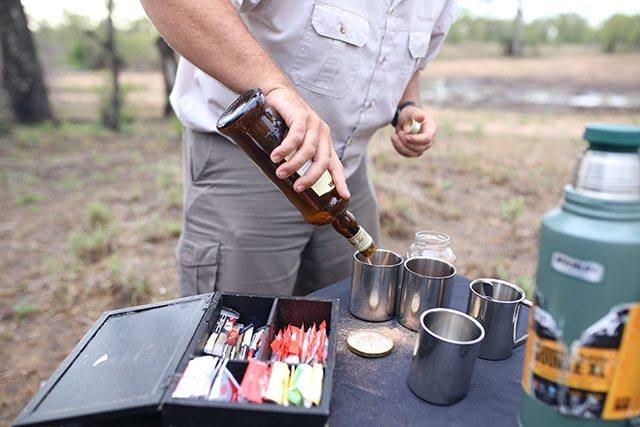 Safari at Kruger Travel Guide - What to Do - Sunrise Coffee Break on Safari at Tintswalo Safari Lodge