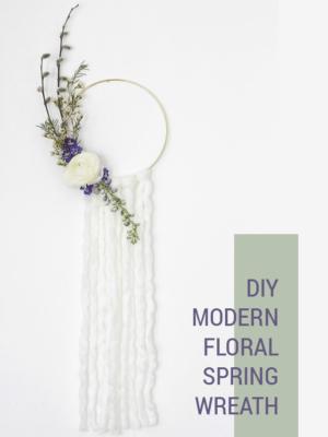 DIY Modern Spring Floral Wreath thumbnail