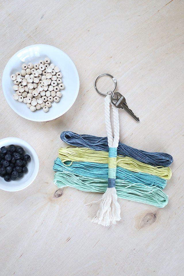 DIY Rope Tassel Keychain 1