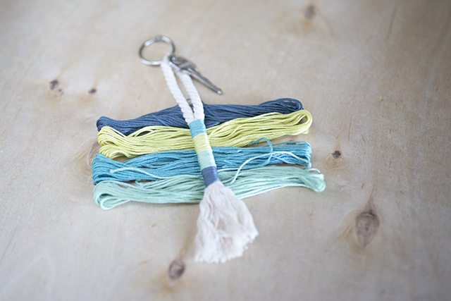 DIY Rope Tassel Keychain 2