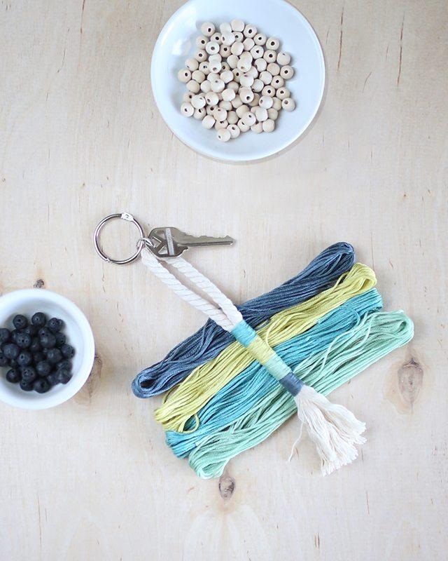 DIY Rope Tassel Keychain 5