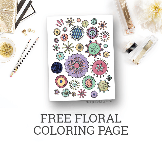 Free Floral Coloring Page Printable - Freebies