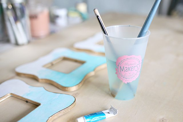 Watercolor Painted Wooden Picture Frame DIY