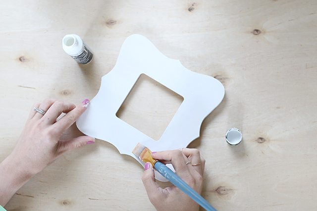 Watercolor Painted Wooden Picture Frame - Step 1 - White Paint