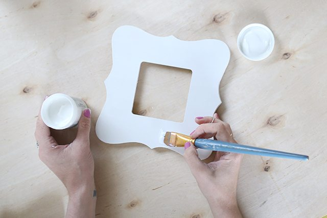 Watercolor Painted Wooden Picture Frame - Step 2 - Matte Medium