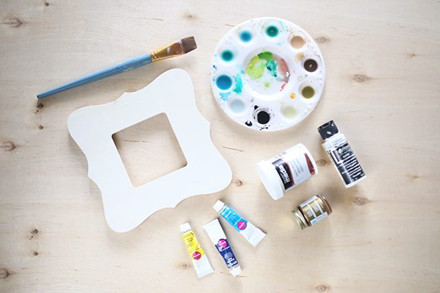 Watercolor Painted Wooden Picture Frame Supplies