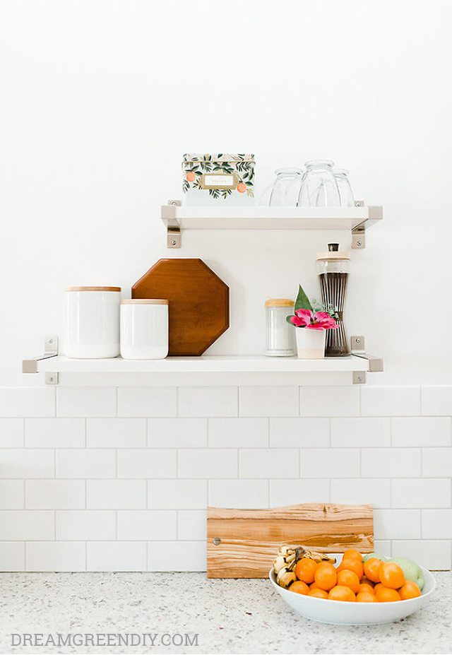 White Subway Tile - DIY Kitchen Backsplash Ideas - Dream Green DIY