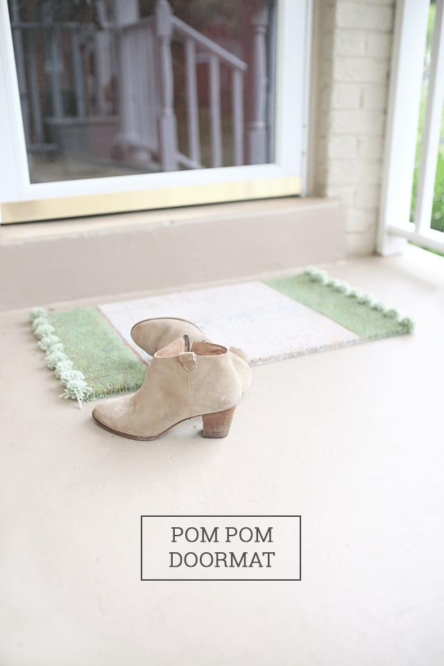 DIY Pom Pom Rug Doormat
