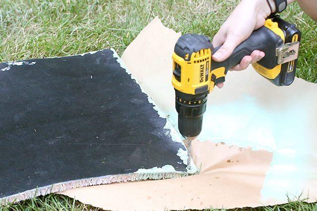 Pom Pom Rug Doormat - Step 6