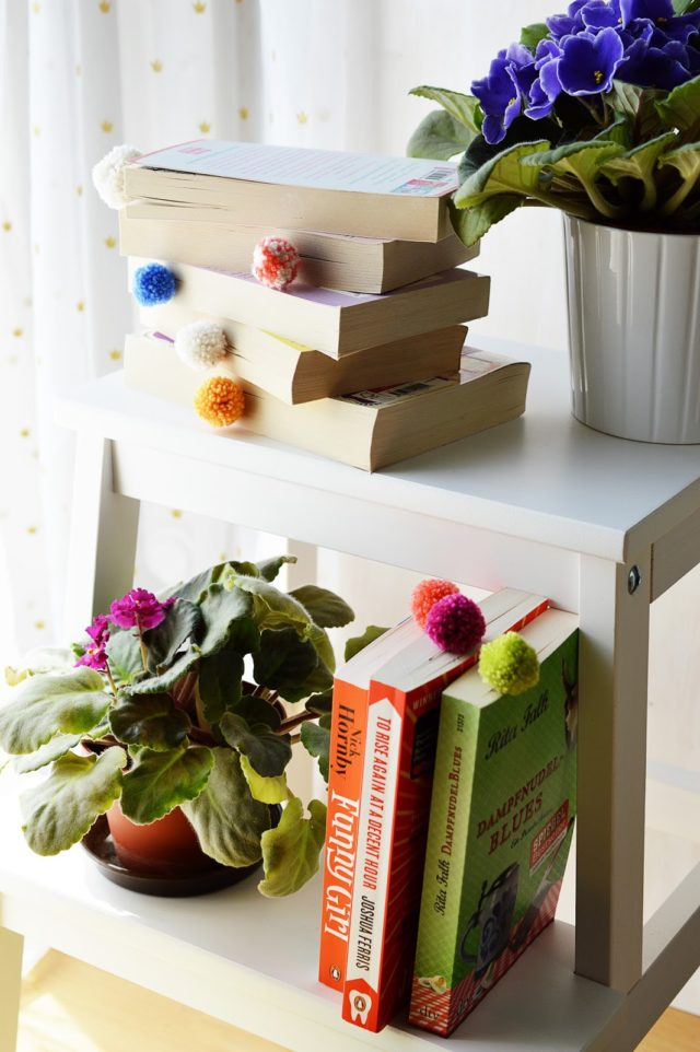 1 DIY Pom Pom Bookmarks