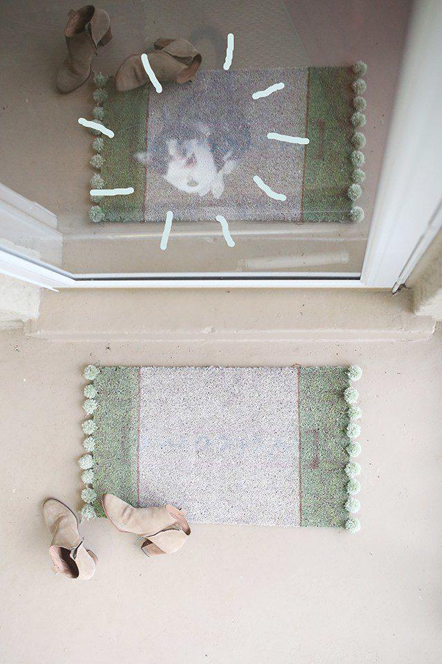 1 DIY Pom Pom Doormat