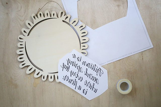 DIY Autumn Quote Sign - Step 1