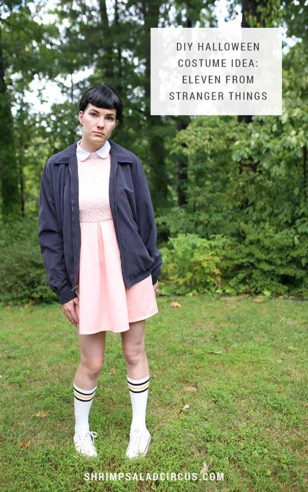 diy stranger things halloween costume eleven el