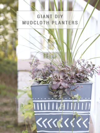 Giant DIY Mudcloth Planter Makeover thumbnail