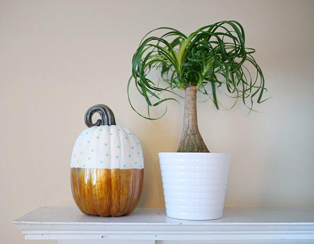 diy-polka-dot-colorblock-pumpkin