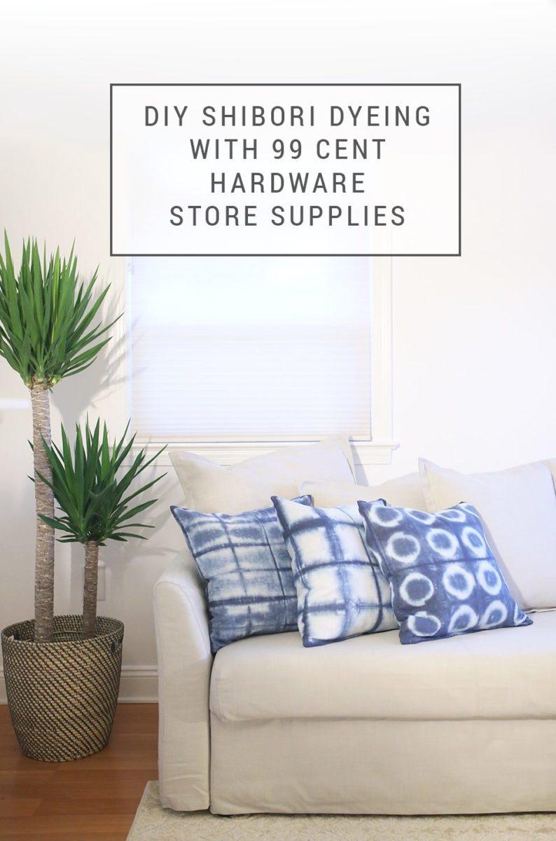 4f17cc0978bb DIY Throw Pillows With Hardware Store Shibori Dyeing – IKEA Hacks