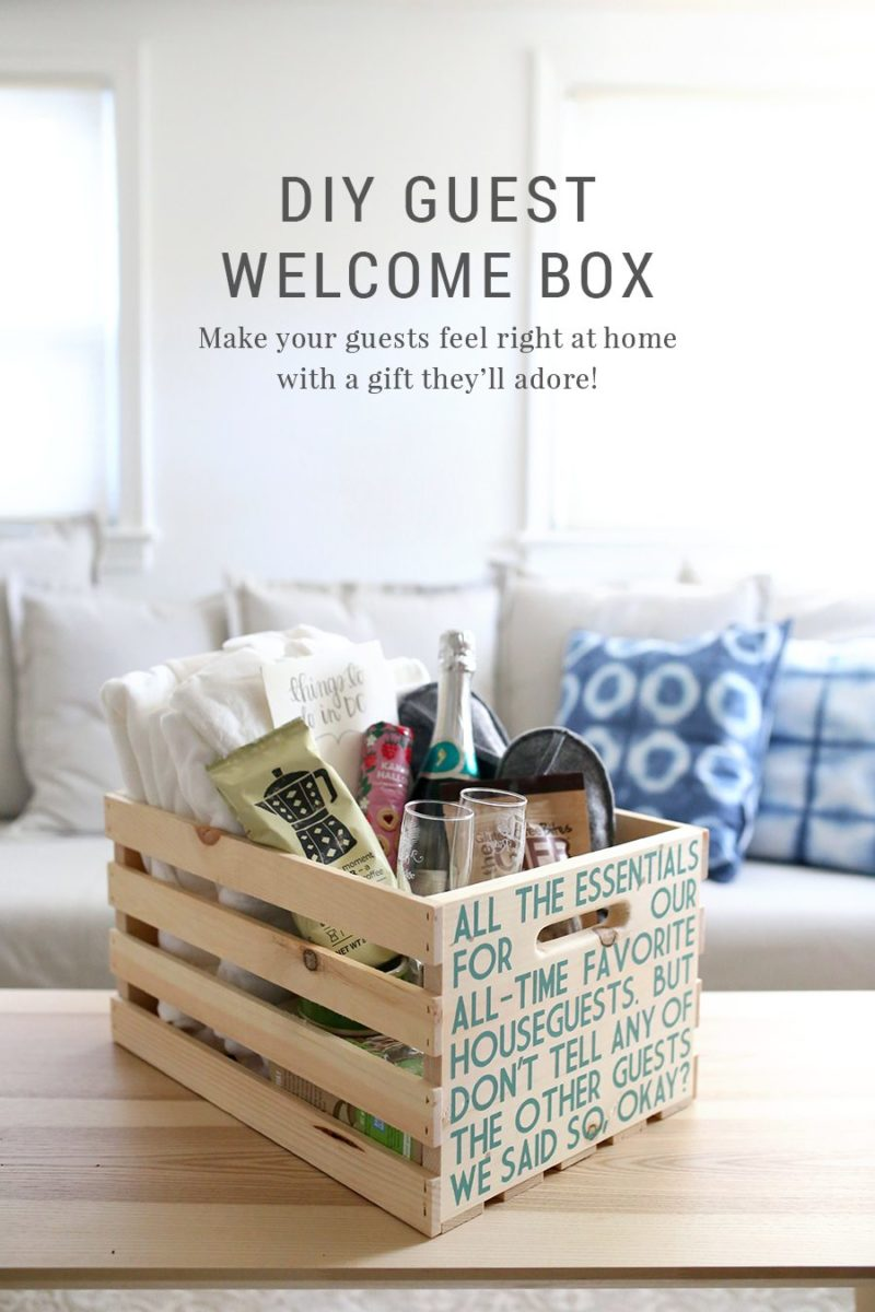 DIY Guest Welcome Box + Free Printable Template - Shrimp Salad Circus
