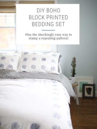 How to Block Print Fabric – DIY Indigo Block Printed Duvet Set – IKEA Hacks thumbnail