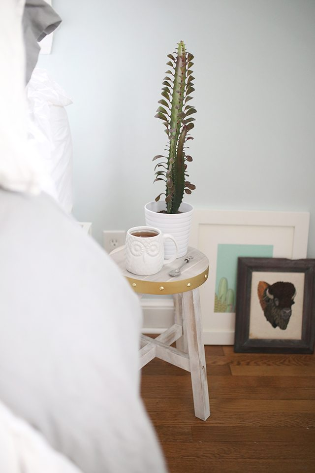 how-to-block-print-on-fabric-diy-stool-night-stand-with-cactus