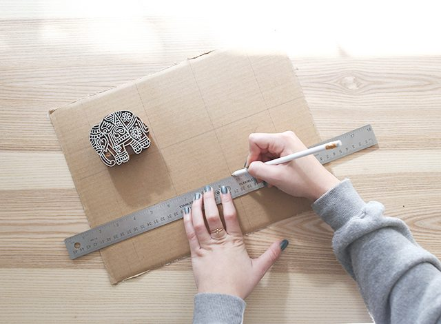 how-to-block-print-on-fabric-measure-a-template