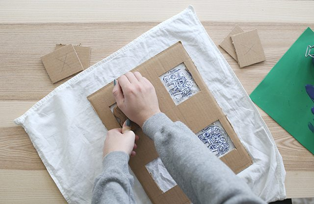 how-to-block-print-on-fabric-stamp