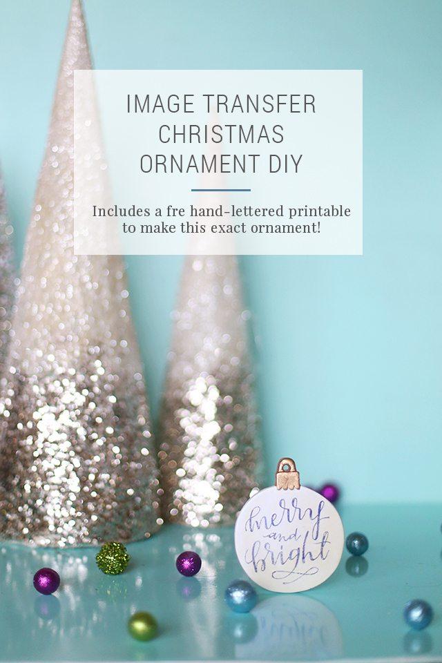diy image transfer christmas ornaments