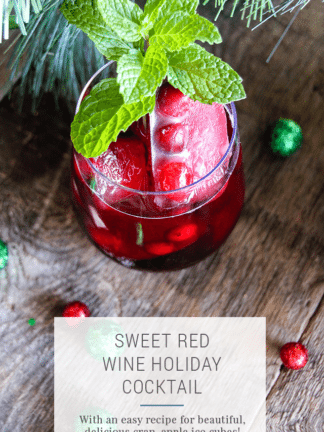 Sweet Red Wine Cocktail Recipe for the Holidays thumbnail