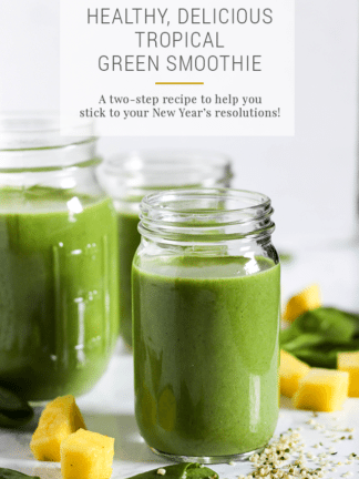 Healthy Tropical Green Smoothie Recipe thumbnail