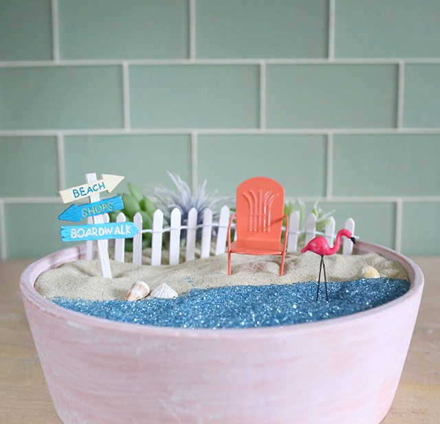 Diy Beach Fairy Garden Tutorial Shrimp Salad Circus