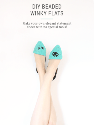 DIY Beaded Shoes – Winky Eye Pattern Flats thumbnail