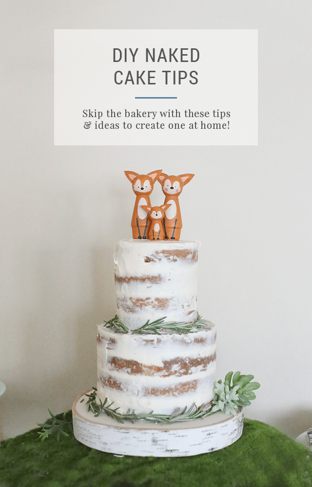 How To Make A Diy Naked Cake For A Baby Shower Or Party