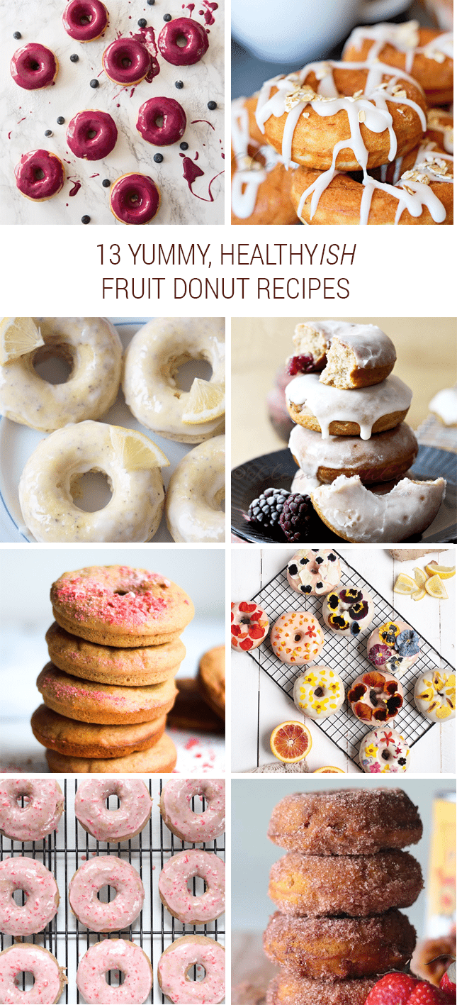 Healthy Fruit Donut Recipe Roundup