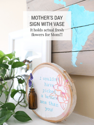 DIY Fresh Flower Sign – Homemade Mother's Day Gift Idea thumbnail