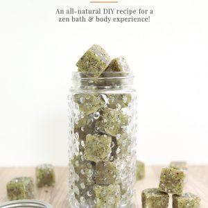 DIY Matcha Green Tea Sugar Scrub Cubes - Shrimp Salad Circus
