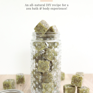 DIY Matcha Green Tea Sugar Scrub Cubes