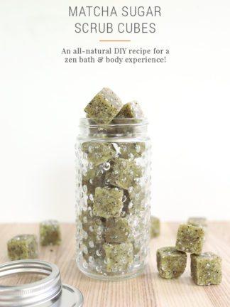 DIY Matcha Green Tea Sugar Scrub Cubes thumbnail