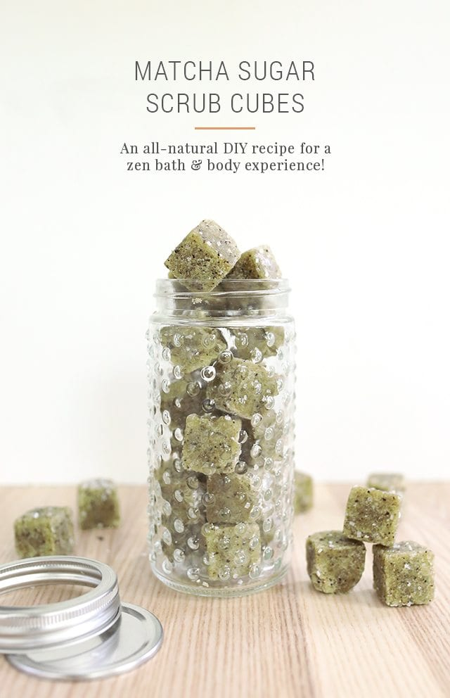 DIY Matcha Green Tea Sugar Scrub Cubes Recipe