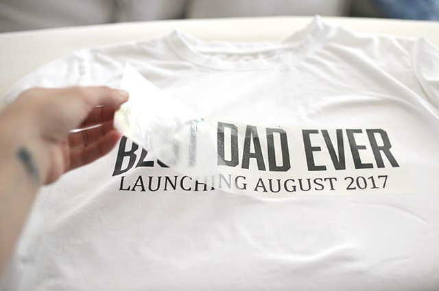 Retro DIY Father's Day Tee Shirt - Step 5