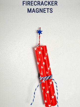 Firecracker Magnet Fourth of July Crafts thumbnail