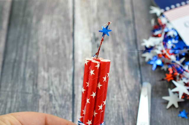 Firecracker Magnet Fourth of July Crafts - Step 4