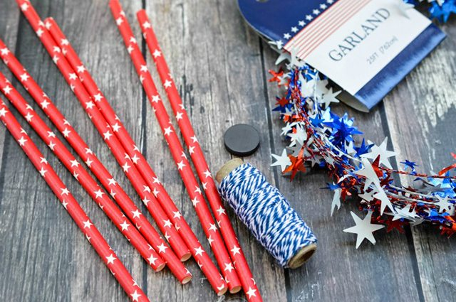 Firecracker Magnet Fourth of July Crafts - Supplies