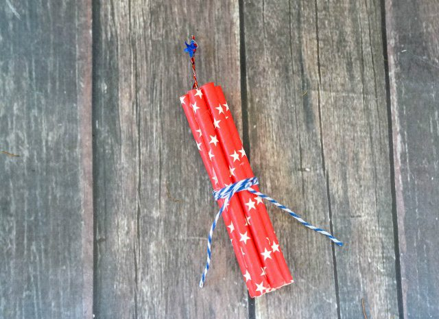 Firecracker Magnet Fourth of July Crafts