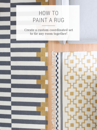 How to Paint a Rug to Make a Coordinating Set – IKEA Hacks thumbnail