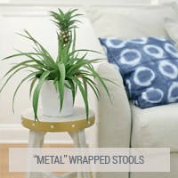 IKEA Hacks - Faux Metal Wrapped Stools