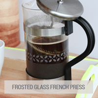 IKEA Hacks - Frosted Glass French Press