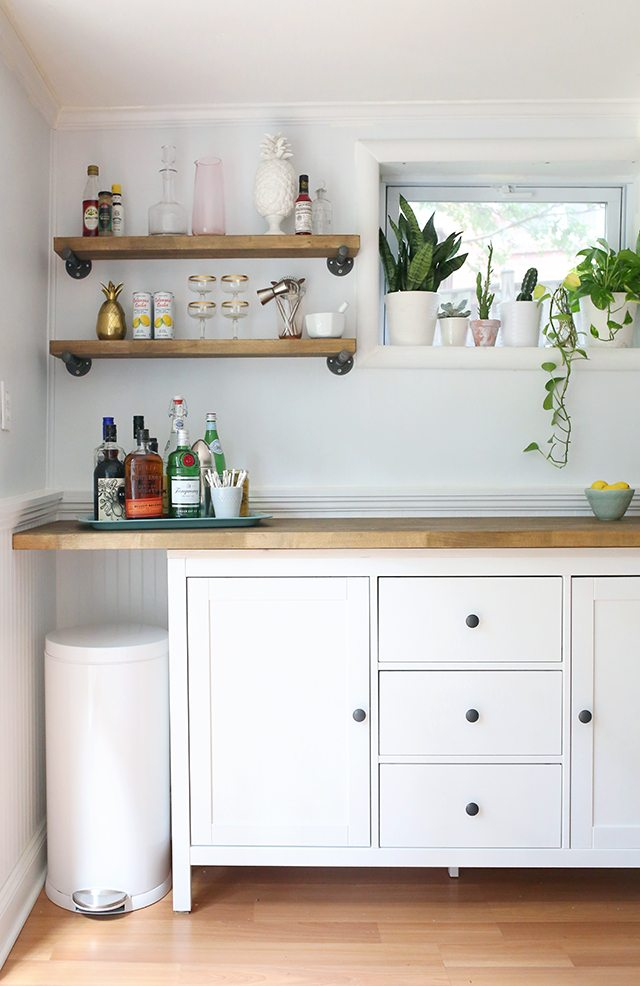 Ikea Hacks Diy Bar Cabinet Amp Kitchenette Shrimp Salad