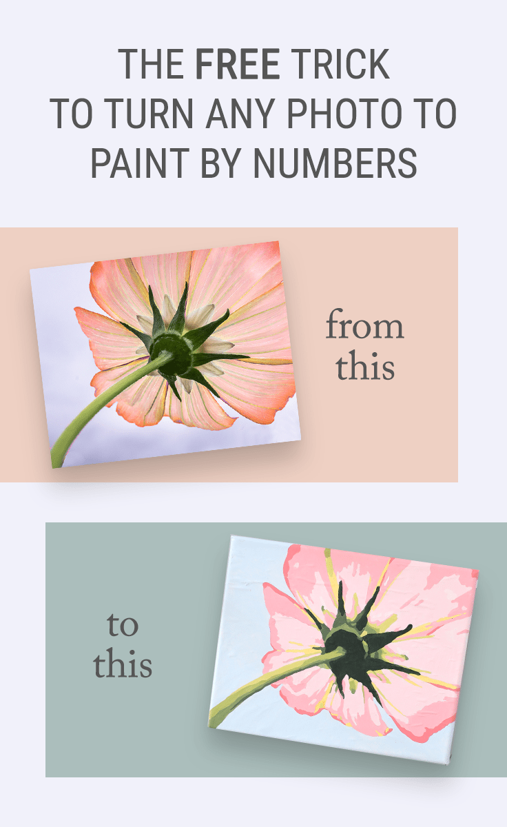 The Free Trick For How To Turn A Photo Into Paint By Numbers Wall Art