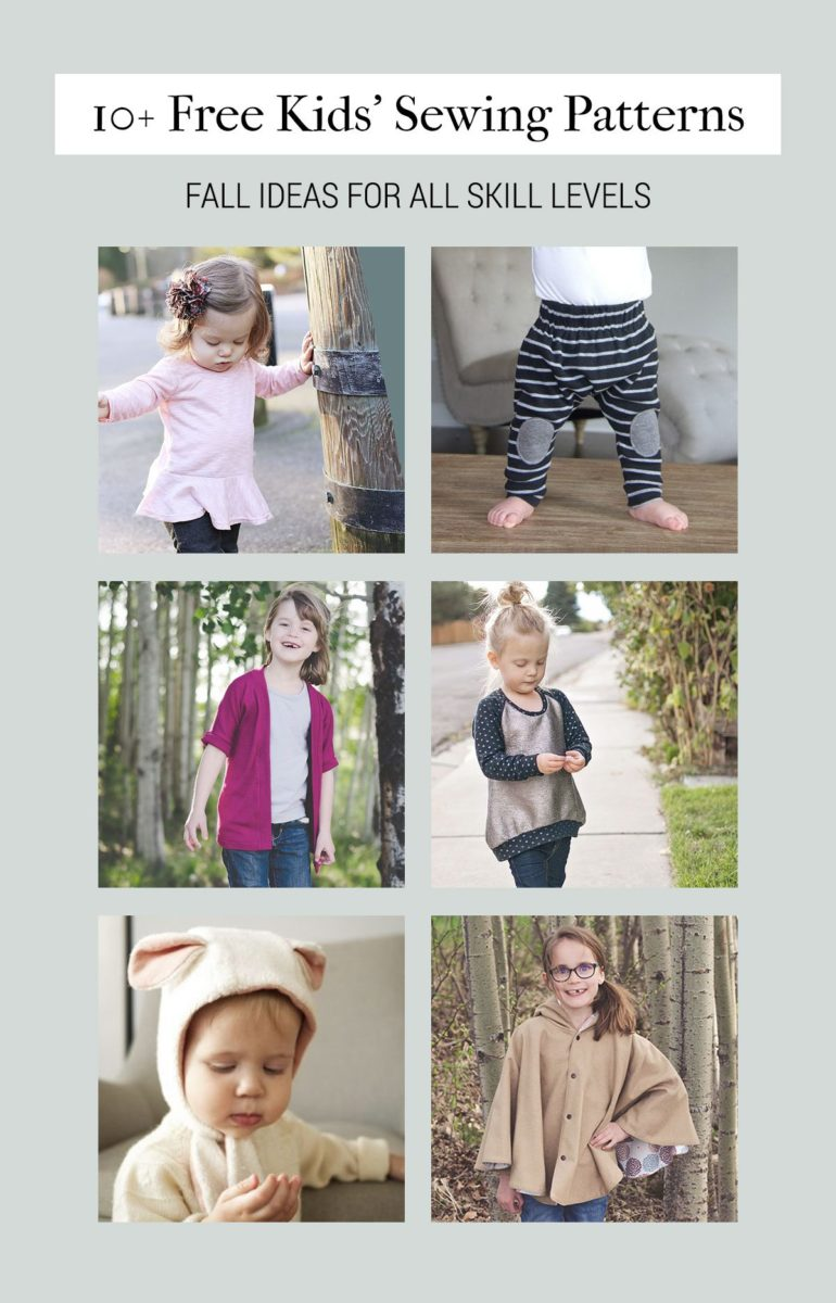Free sewing patterns for kids for fall shrimp salad circus jeuxipadfo Gallery