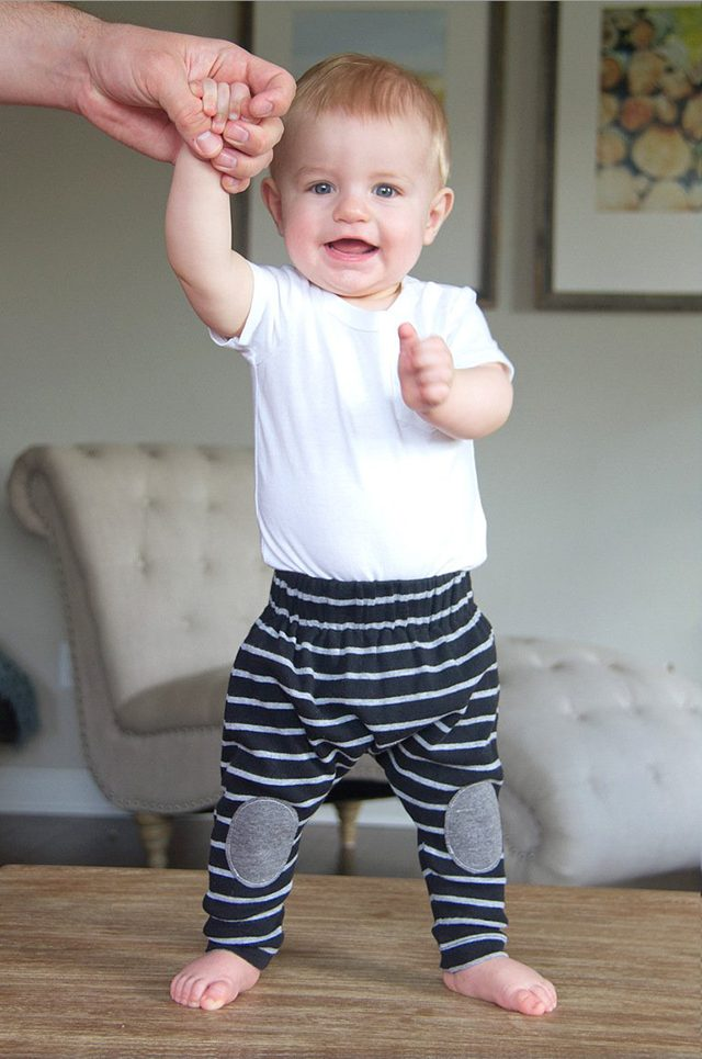 Free Fall Sewing Patterns for Kids for Fall - 20 Minute Boho Baby Leggings